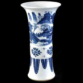 1168: Chinese 17th/18th C Blue & White Vase