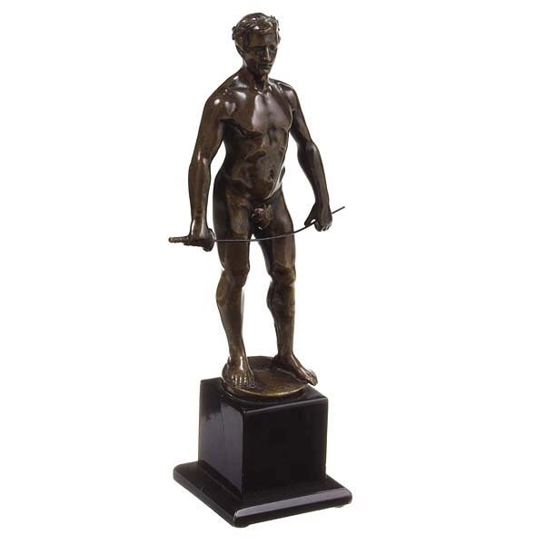 1240: Classical Bronze of Figure with sword