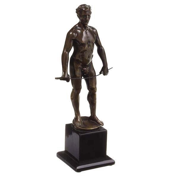 1240: Classical Bronze of Figure with sword