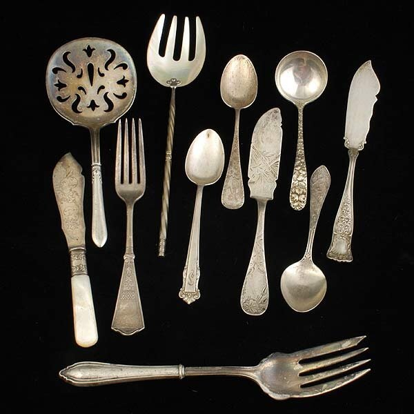 16: Sterling Flatware Grouping,