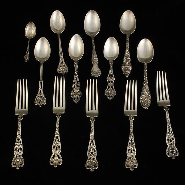 19: Thirteen Sterling Forks and Spoons