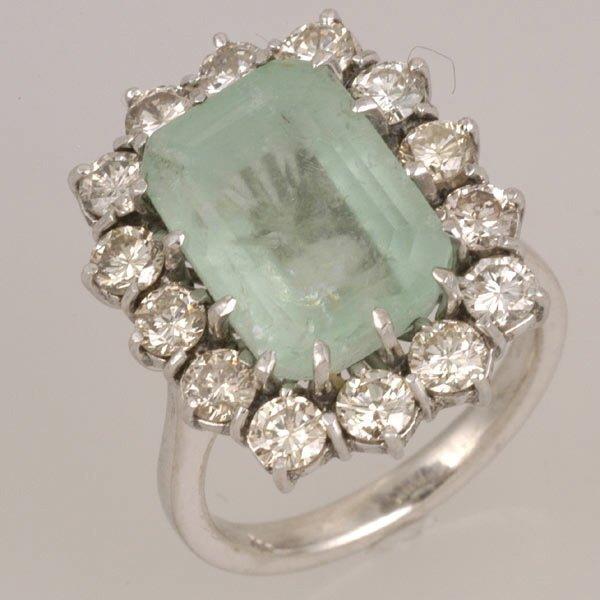 267: Siberian Emerald & Diamond Ring