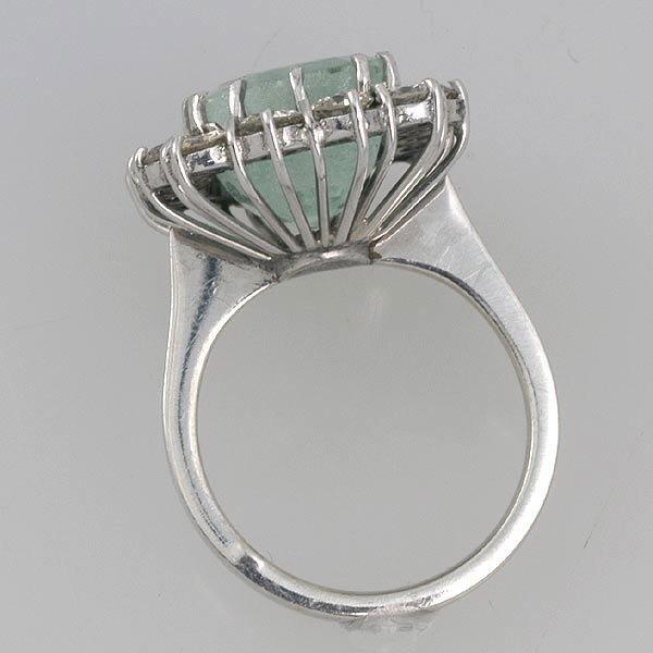 267: Siberian Emerald & Diamond Ring - 3
