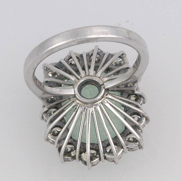 267: Siberian Emerald & Diamond Ring - 4