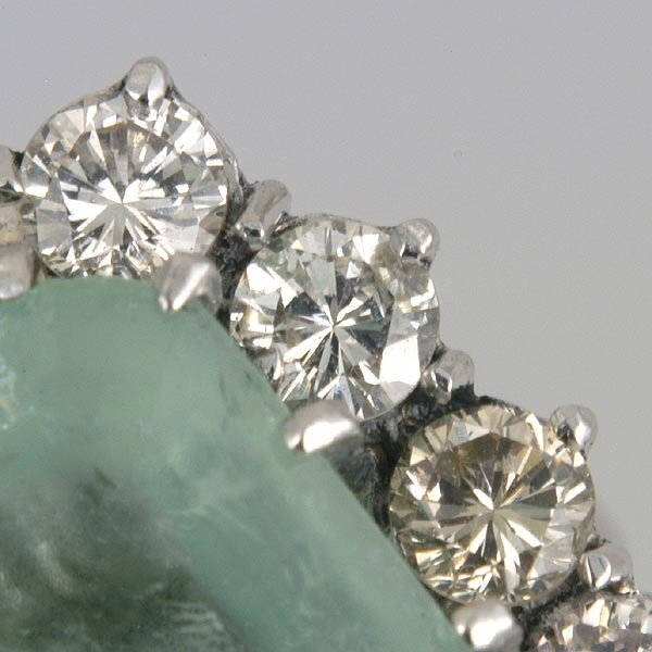 267: Siberian Emerald & Diamond Ring - 5