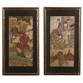524 Chinese School Two Paintings