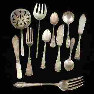 Sterling Flatware Grouping,