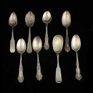 Eight Silver Teaspoons