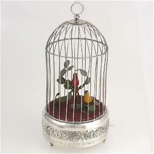 Continental Silver Musical Birdcage
