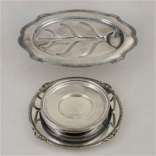 Gumps Plated Well &Tree Platter, Two Trays, Etc.