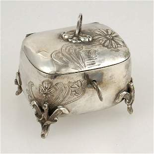 Art Nouveau Style Silver Music Box