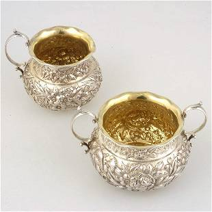 American Repousse Sterling Sugar and Creamer