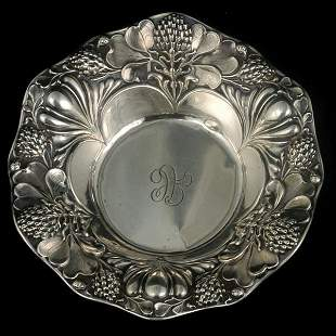 Small Gorham Bowl with Thistle Repousse Border