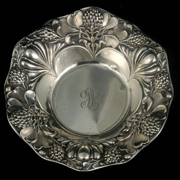 11: Small Gorham Bowl with Thistle Repousse Border