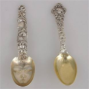 Two American Art Nouveau Sterling Spoons.