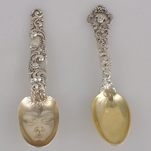 12: Two American Art Nouveau Sterling Spoons.