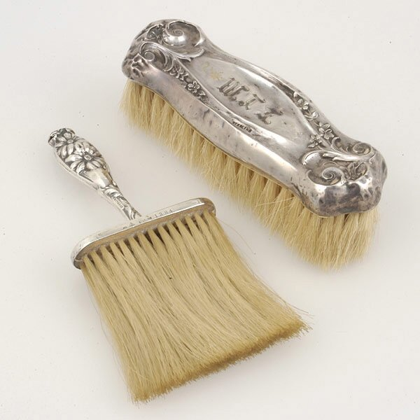 19: Two Sterling Mounted Brushes