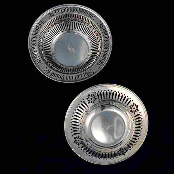 Two Sterling Reticulated Bowls