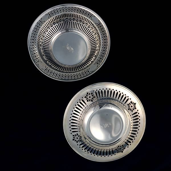 26: Two Sterling Reticulated Bowls