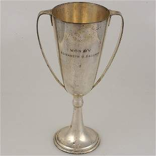 Tiffany Sterling Two Handled Trophy Urn.