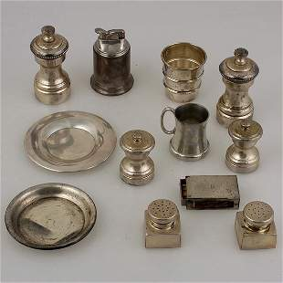 Grouping of Various Sterling Items