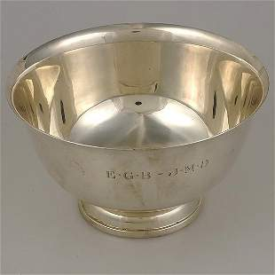Towle Sterling Punch Bowl,