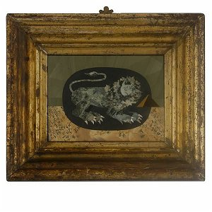 170: Pietra Dura Picture of a Lion