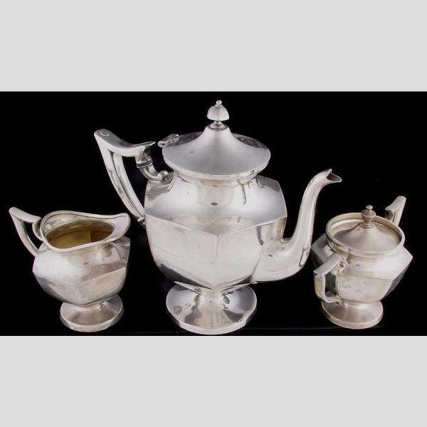 1: International silver company three piece t