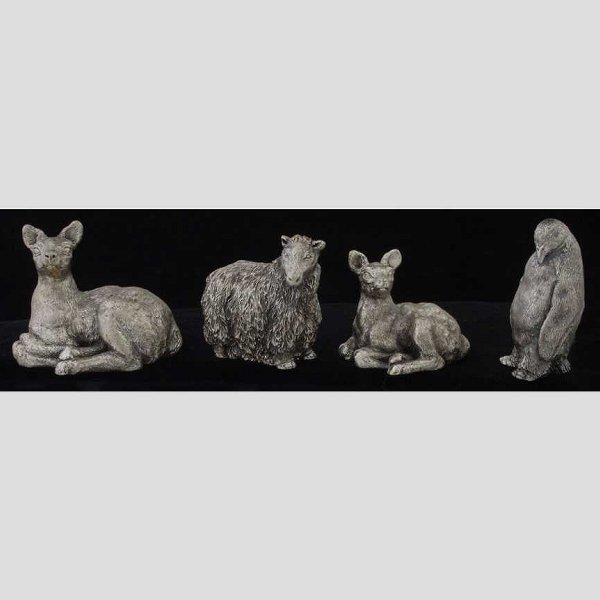 2: Set of four silver figures