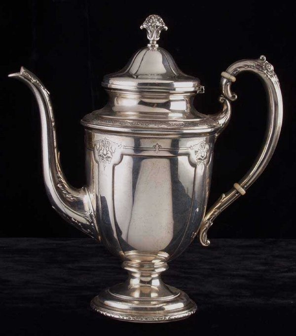 4: Towle Sterling coffee pot