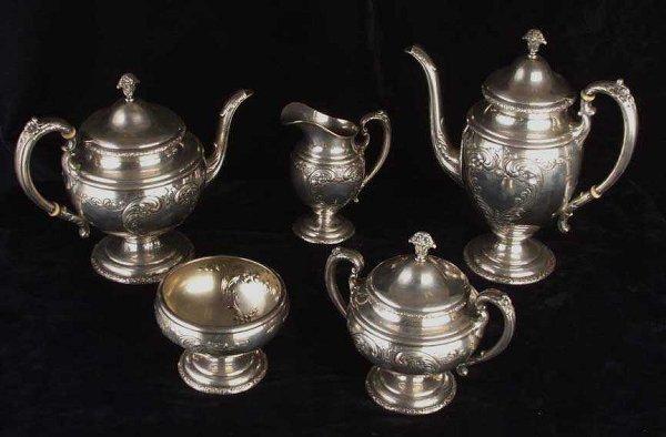 6: Towle Sterling 5 piece coffee & tea set