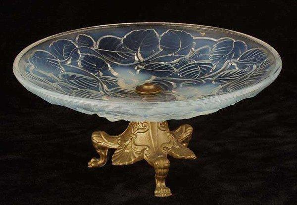 14: French opaline glass bowl