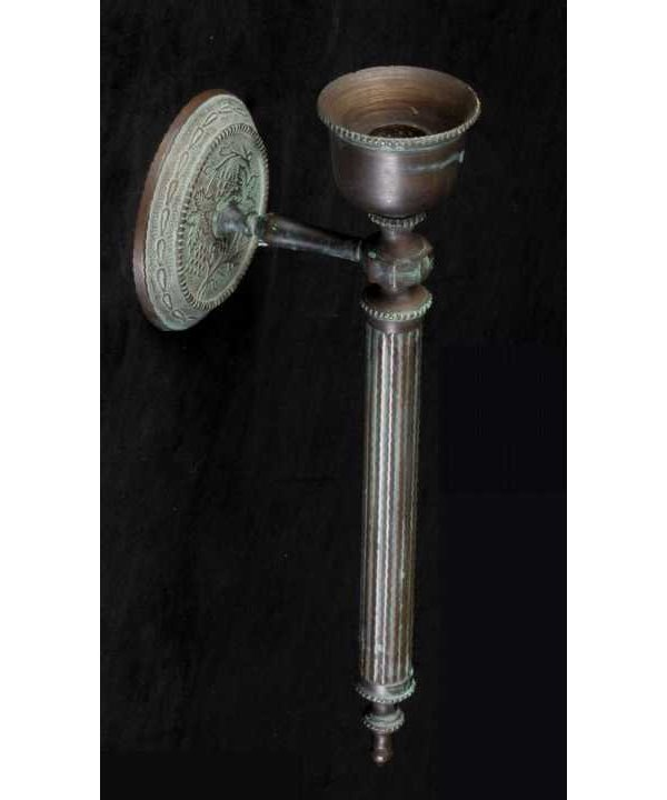 15: Cast bronze wall candle sconce