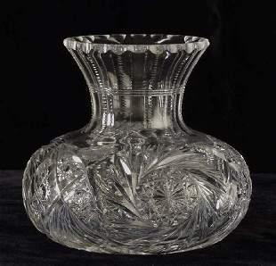 Cut crystal carafe