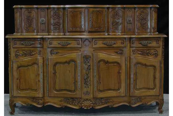 257: Southern French carved walnut sideboard
