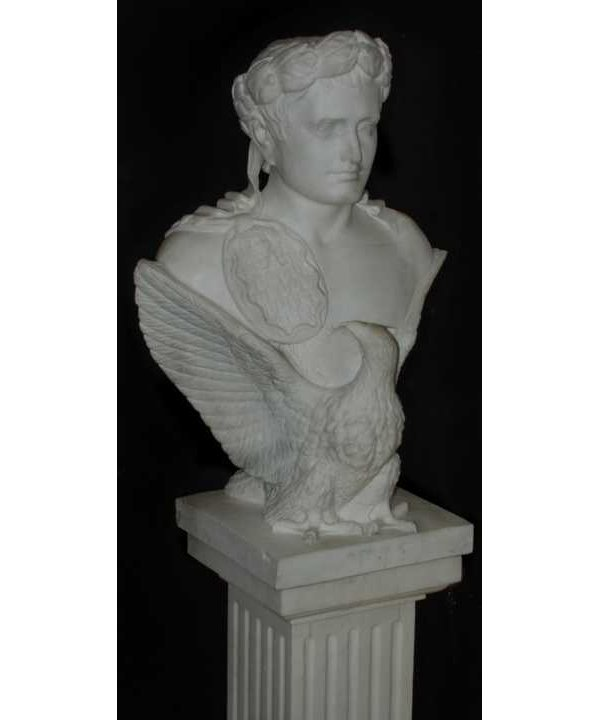 318: Carved marble bust of Caesar and eagle