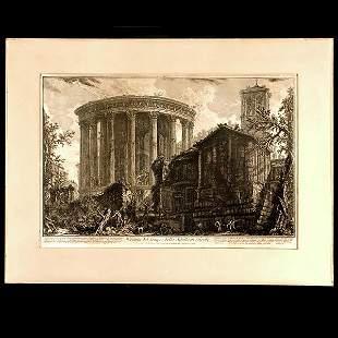 ITALIAN ART ETCHING PIRANESI IMPRESSION 1761