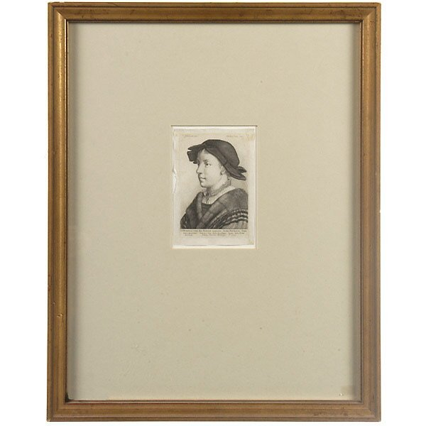 1009: GERMAN 17TH C WENZELL HOLLAR ENGRAVING