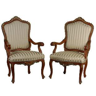 Pair of Venetian Painted Chairs