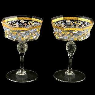 Twelve Venetian Wine Glasses