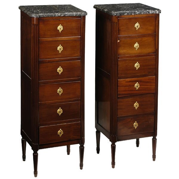 1272: Pair of Tall Narrow Chests