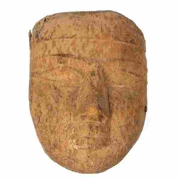 AFRICAN ART ANCIENT EGYPT SARCOPHAGUS MASK WOOD