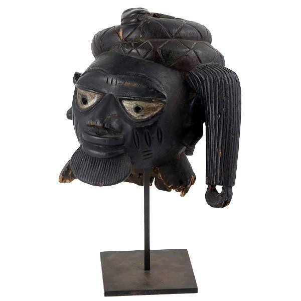 1551: AFRICAN ART FINE OLD YORUBA GELEDE HEADDRESS