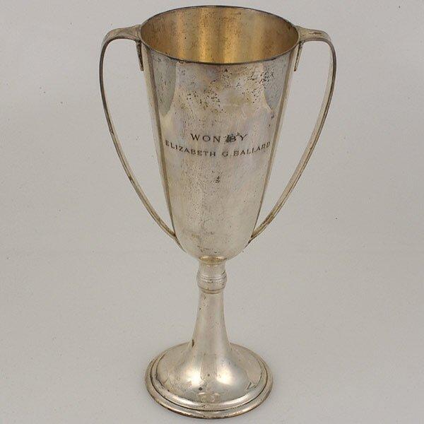 2011: Tiffany Sterling Two Handled Trophy Urn.