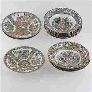 12 Chinese Canton Porcelain Bowls