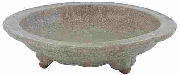2039: Chinese Crackle Tea Dust Glazed Bowl
