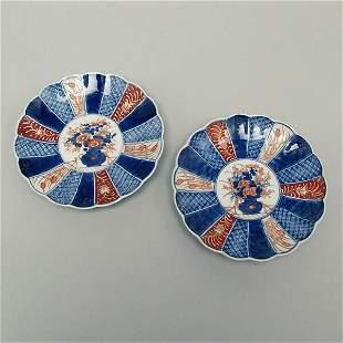 Pair of Japanese Imari Plates,