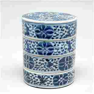 Set of Chinese Blue&White Stacking Container