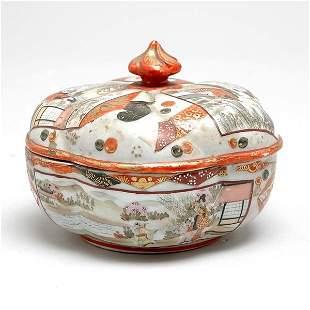 Japanese Kutani Porcelain Covered Dish