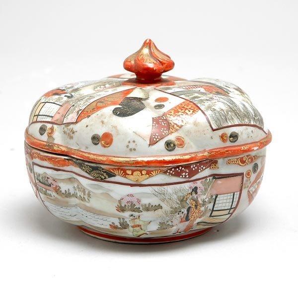 18: Japanese Kutani Porcelain Covered Dish